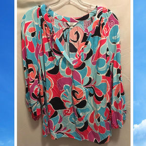 Size 2X Crown & Ivy Top Colorful